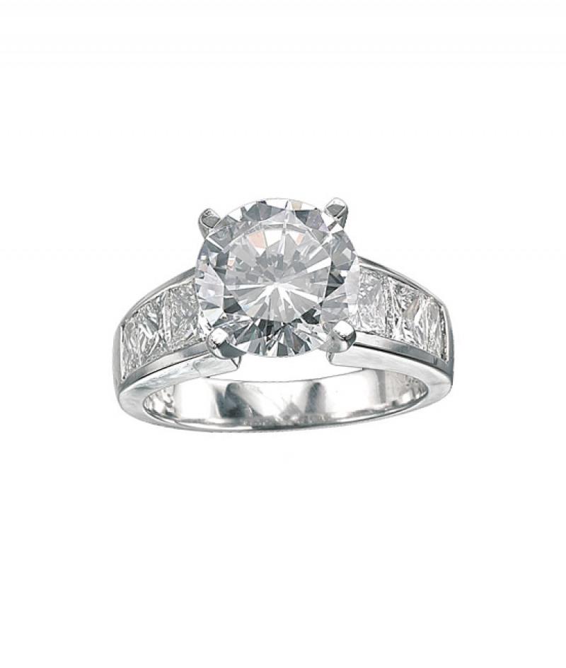 Diamond Wedding Ring in Platinum, 1.58 CT TDW