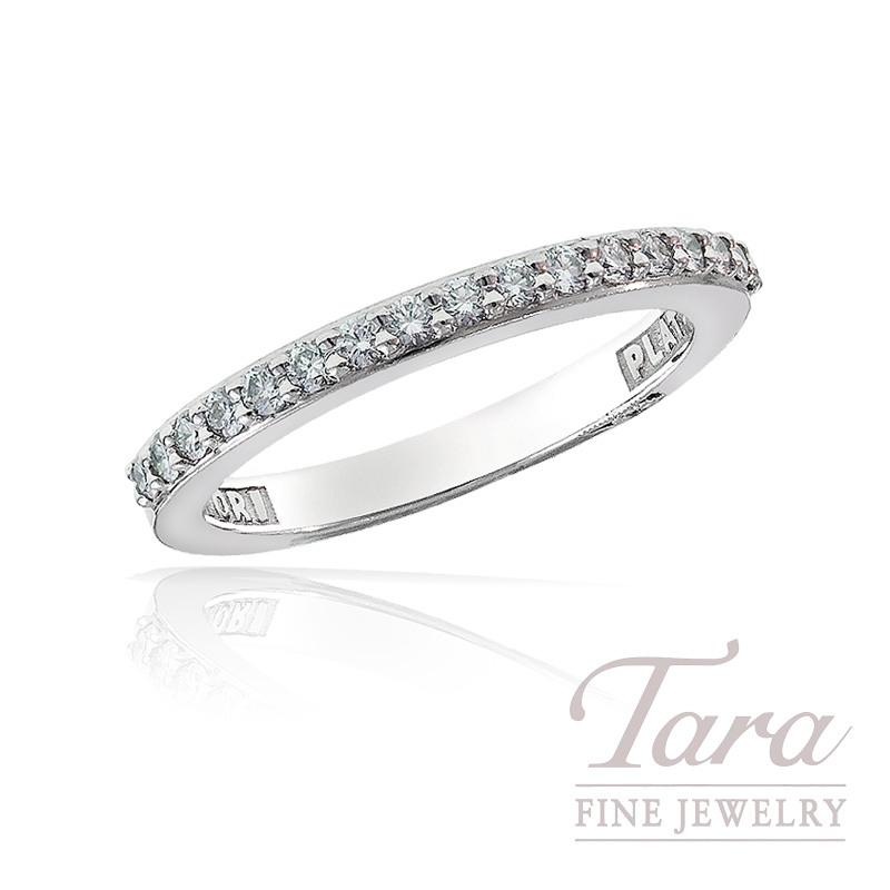 Tacori Diamond Wedding Band in Platinum, .29 TDW