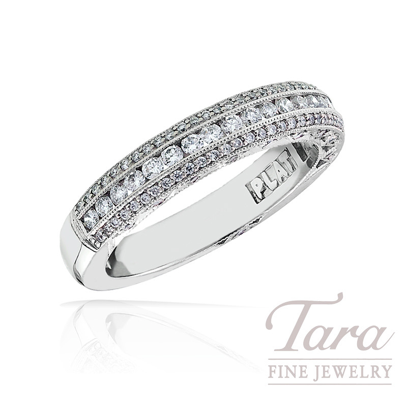Tacori Diamond Eternity Band in Platinum, .53 TDW