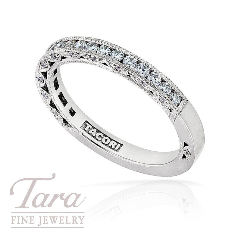 Tacori Diamond Wedding Band in Platinum, .43TW, 4.3G