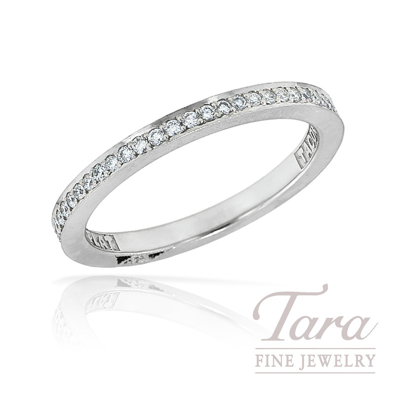 Tacori Diamond Wedding Band in Platinum, .35TW,  3.3G