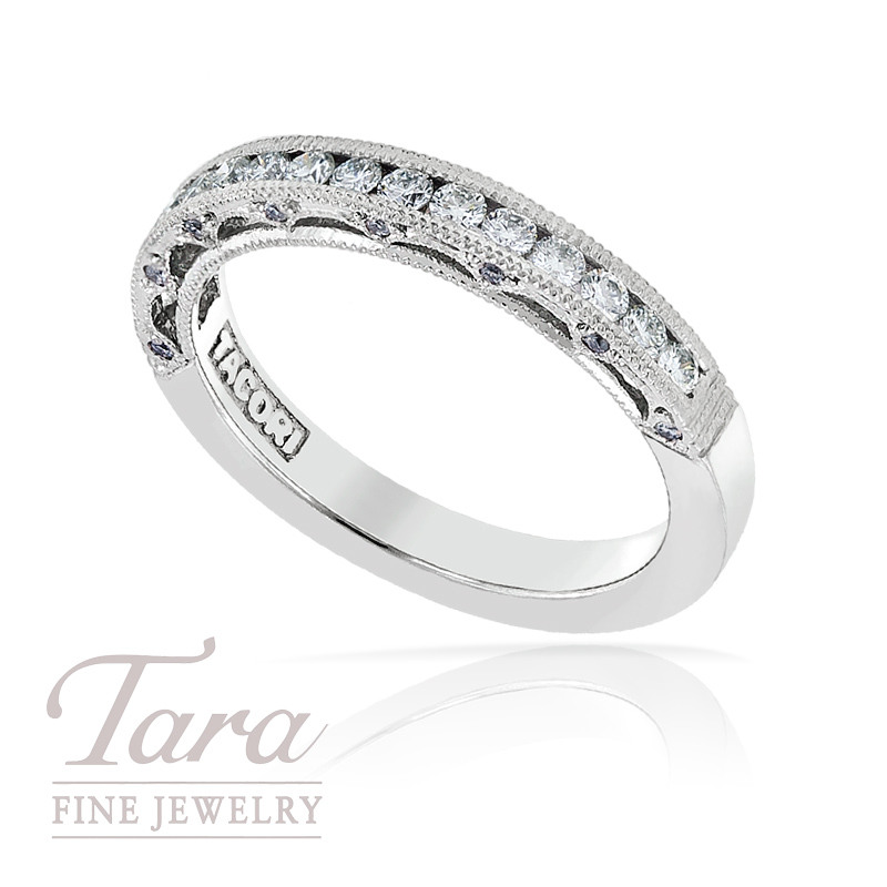 Tacori Diamond Wedding Band in Platinum, .41TDW