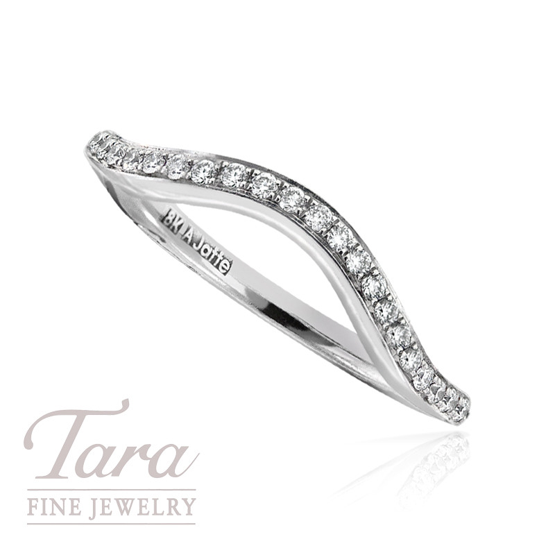 A. Jaffe Diamond Wedding Band in 18K White Gold, .18TDW