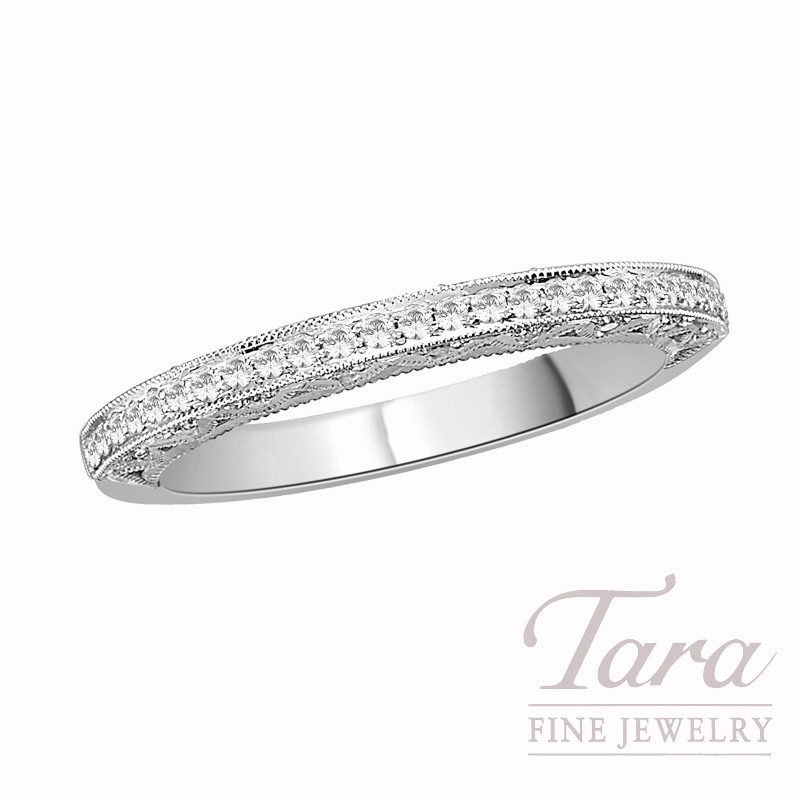 Tacori Diamond Wedding Band in 18K White Gold, .22 CT TW