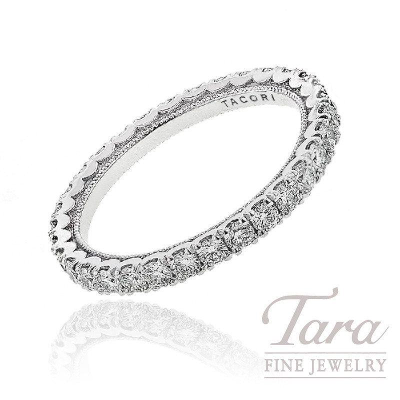 Tacori Diamond Wedding Band in 18K White Gold, 1.03 CT TW