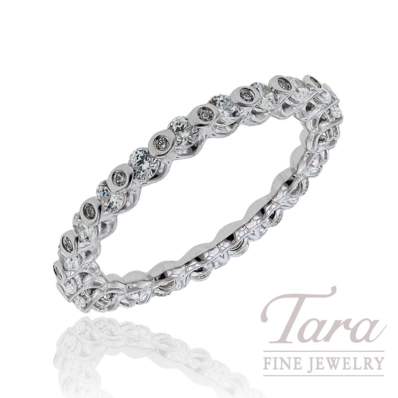 A. Jaffe Diamond Wedding Band, .83 CT TW.