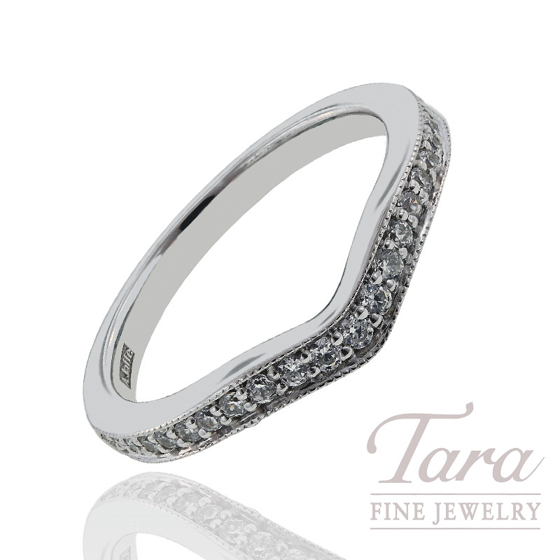 A. Jaffe Diamond Wedding Band, .24 CT TW.