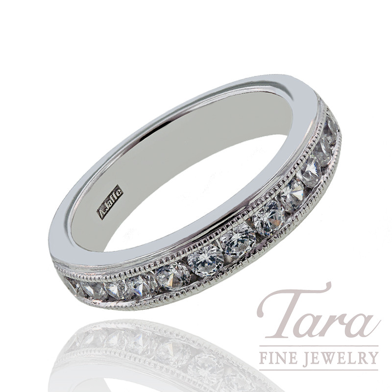 A. Jaffe Diamond Wedding Band, .60 CT TW.