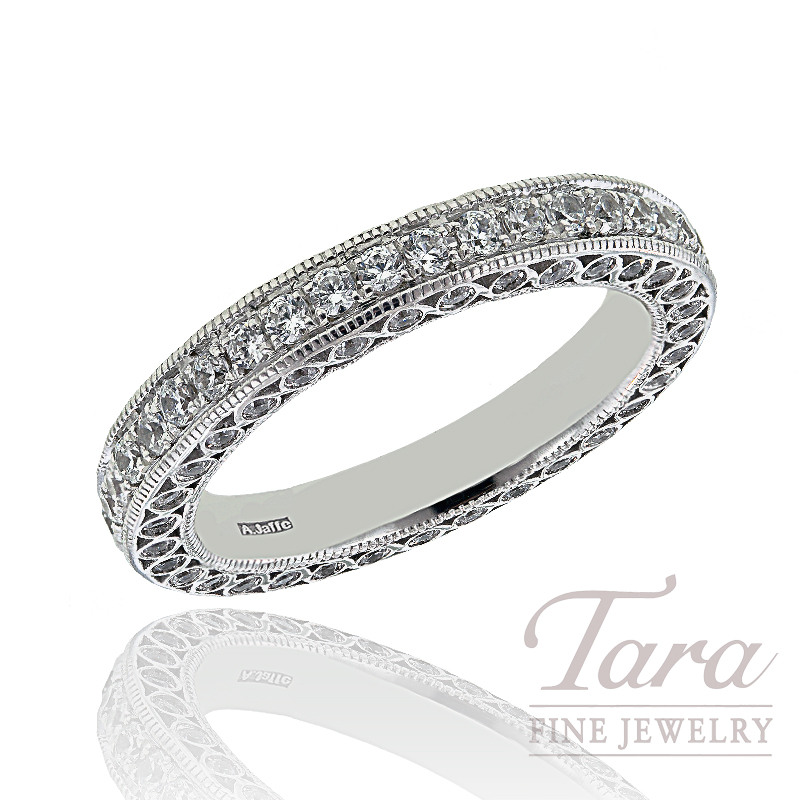 A. Jaffe Diamond Wedding Band, 0.93 CT TW.