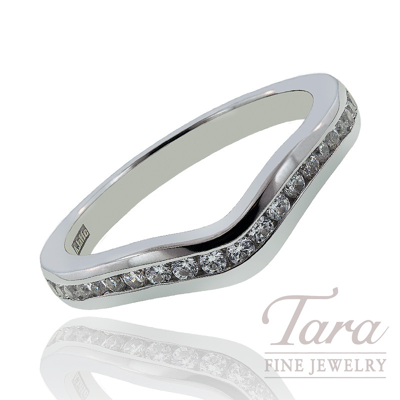 A. Jaffe Diamond Wedding Band, .25 CT TW.