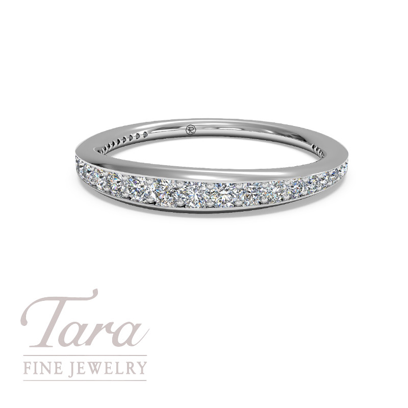 Ritani Diamond Wedding Band in 18K White Gold .39TDW