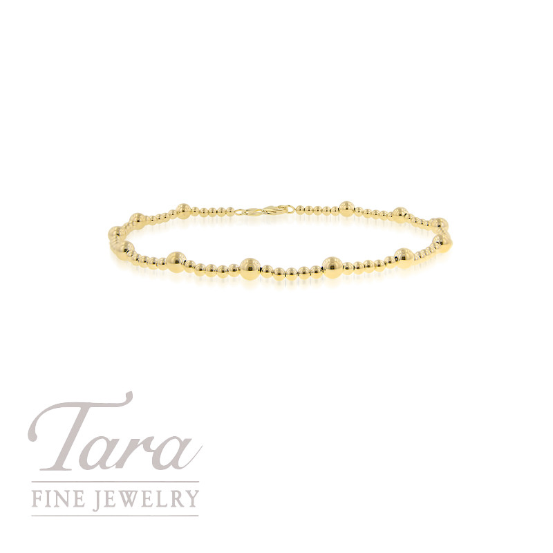 cut yg yellow rubystella chain anklet beaded gold diamond