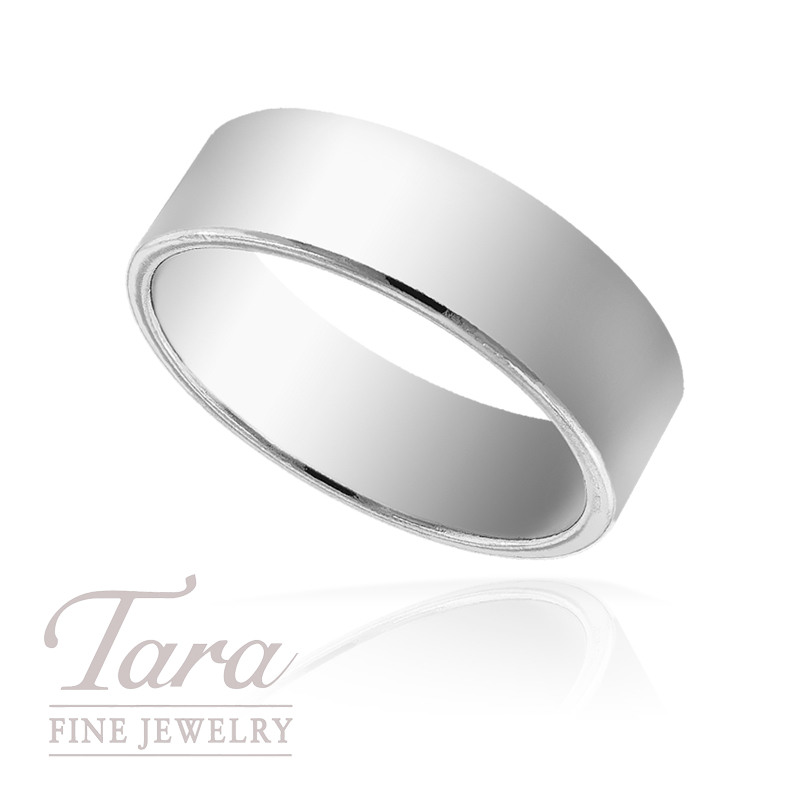 Men's Wedding Band in 14k White Gold, 8mm