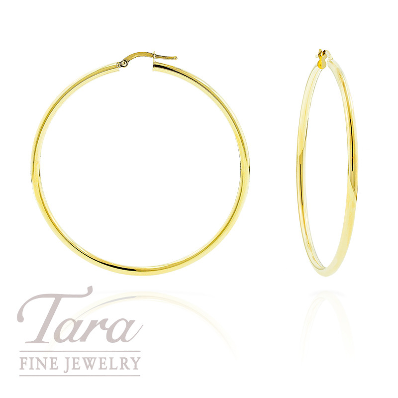 14k Yellow Gold Hoop Earrings  4.4 grams