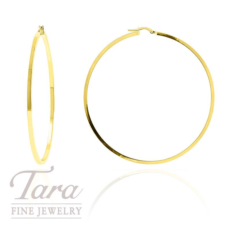 Hoop Earrings in 14k Yellow Gold, 4.2 grams