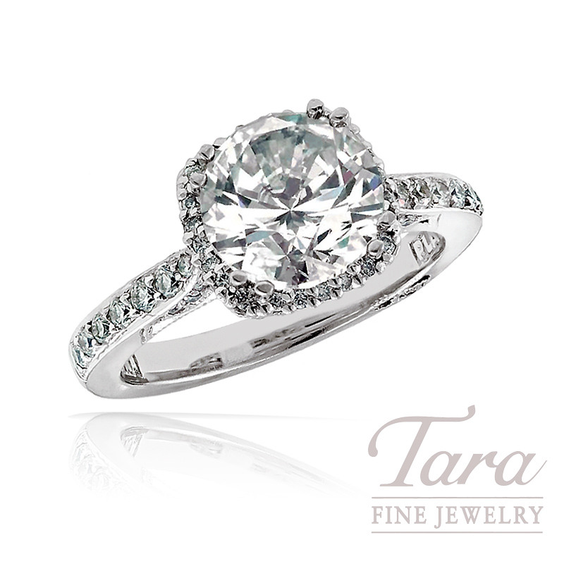 Tacori Diamond Engagement Ring in Platinum, .37tdw (Center Stone Sold Separately)
