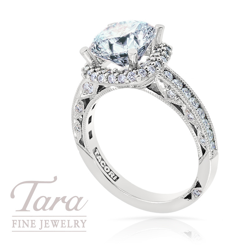 Tacori Diamond Engagement Ring in Platinum, .72TW (Center stone sold separately)