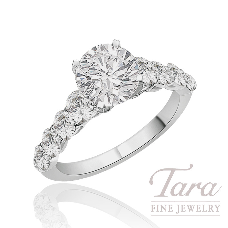 J.B. Star Diamond Engagement Ring in Platinum, 1.23 CT TW (Center stone sold separately).