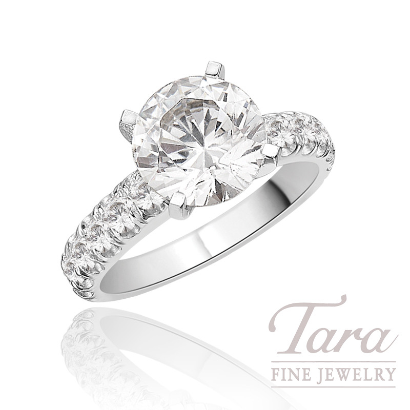 J.B. Star Diamond Engagement Ring in Platinum, .80 CT TW (Center stone sold separately).