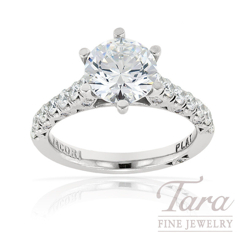 Tacori Diamond Wedding Ring in Platinum, .67ct tdw (Center stone sold separately)