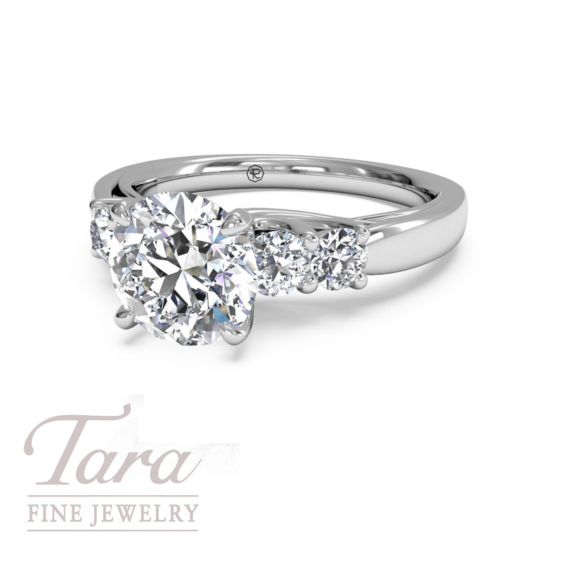 Ritani Diamond Engagement Ring in 18K White Gold .25TDW (Center Stone Sold Separately)