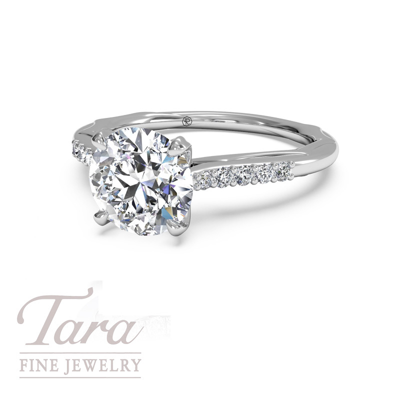 Ritani Classic Diamond Engagement Ring .10TDW (Center Stone Sold Separately)