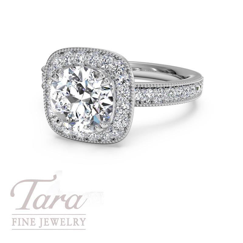 Ritani Endless Love Diamond Engagement Ring .44TDW (Center Stone Sold Separately)