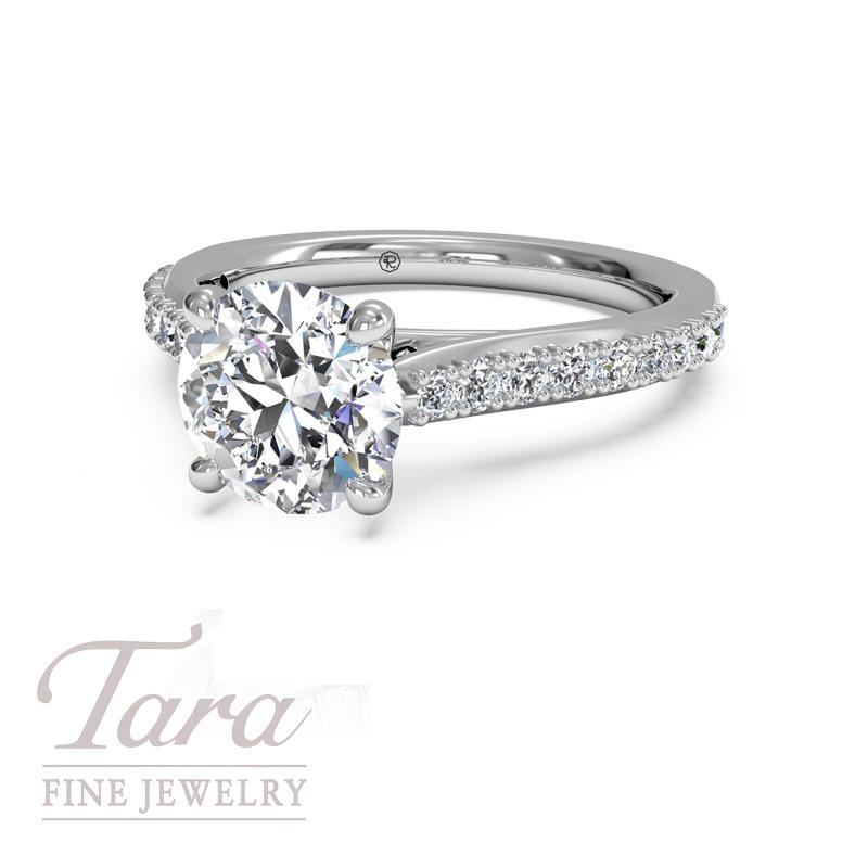 Ritani Diamond Engagement Ring in 18K White Gold .27TDW (Center Stone Sold Separately)