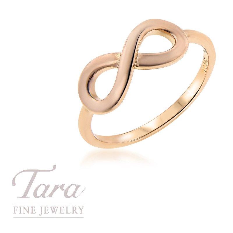 18K Rose Gold Infinity Stackable Ring
