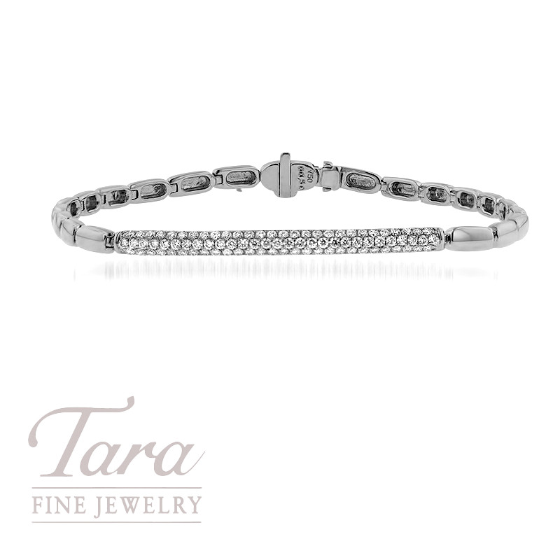18K White Gold Diamond Bracelet .50TDW