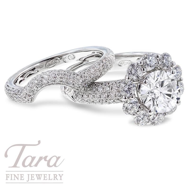 Diamond Wedding Set in 18k White Gold  2.00TDW (Center Stone Sold Separately)
