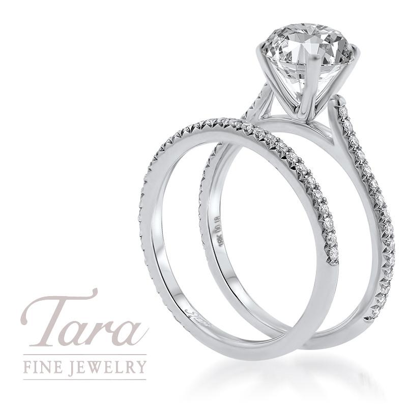 18K White Gold Diamond Wedding Set .18TDW; .20TDW