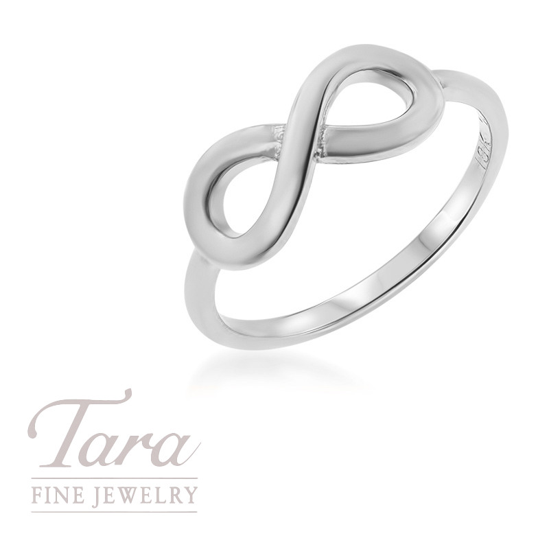 18K White Gold Infinity Stackable Ring