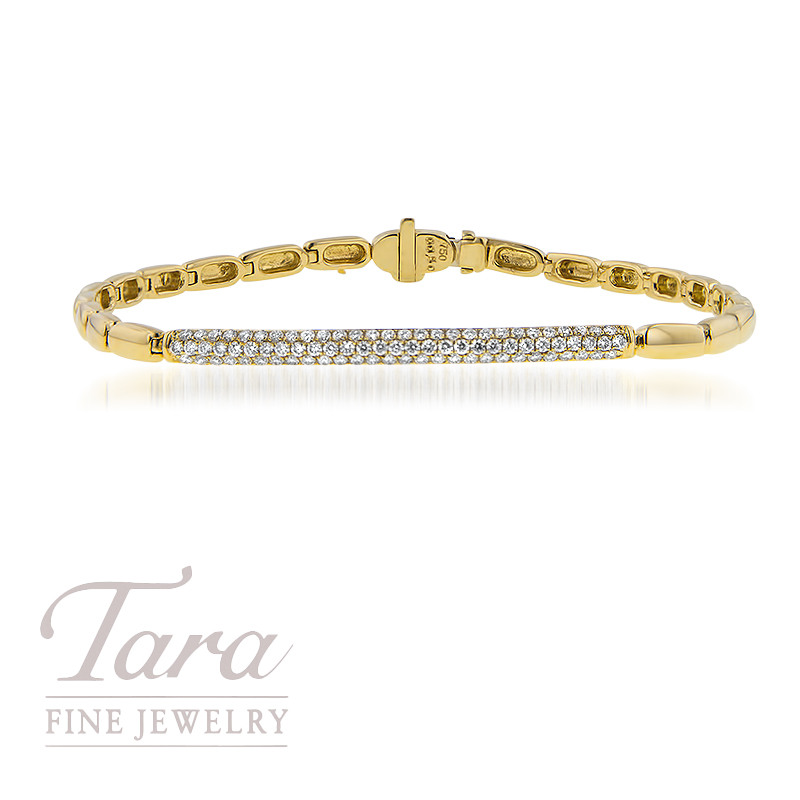 18K Yellow Gold Diamond Bracelet .50TDW
