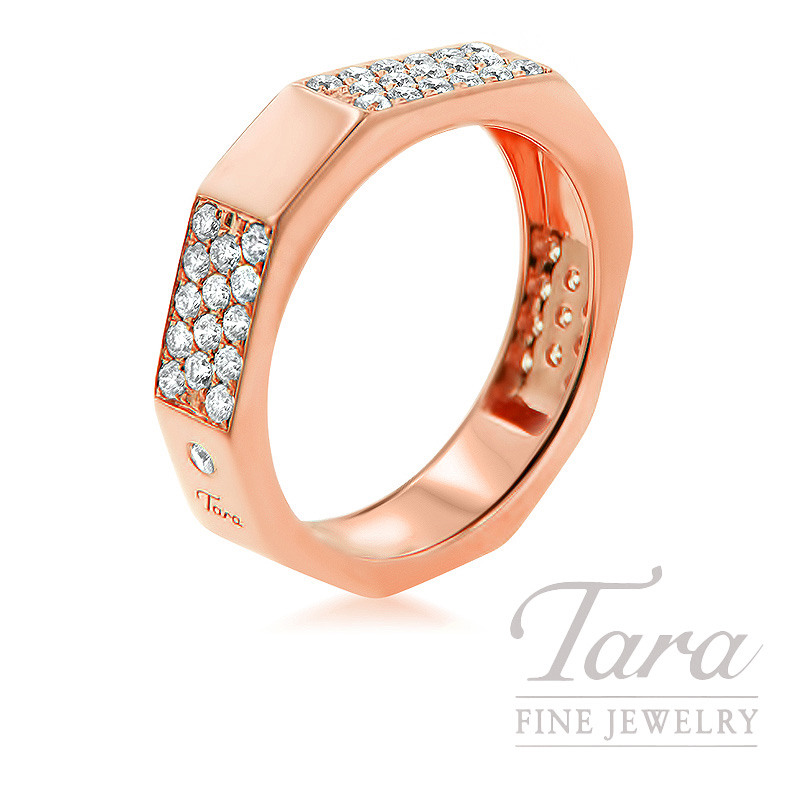 18k Rose Gold Diamond Band, 5.9G, .60TDW