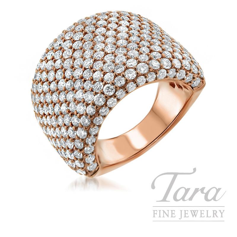 18K Rose Gold Diamond Ring, 13.9G, 5.12TDW