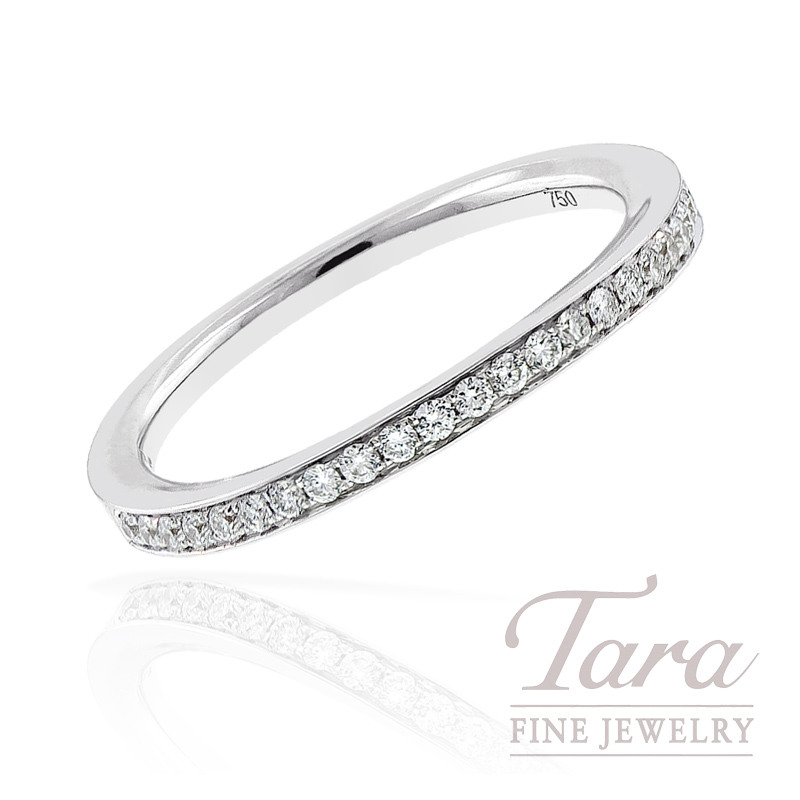 Diamond Band in 18k White Gold, .17tdw