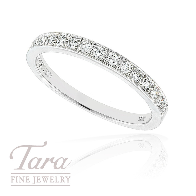 Diamond Band in 18k White Gold, .27tdw, 2.1G