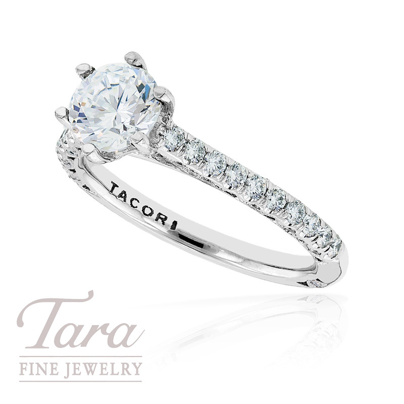 Tacori Diamond Engagement Ring in 18k White Gold, Check For Available Sizes (Center Stone Sold Separately)