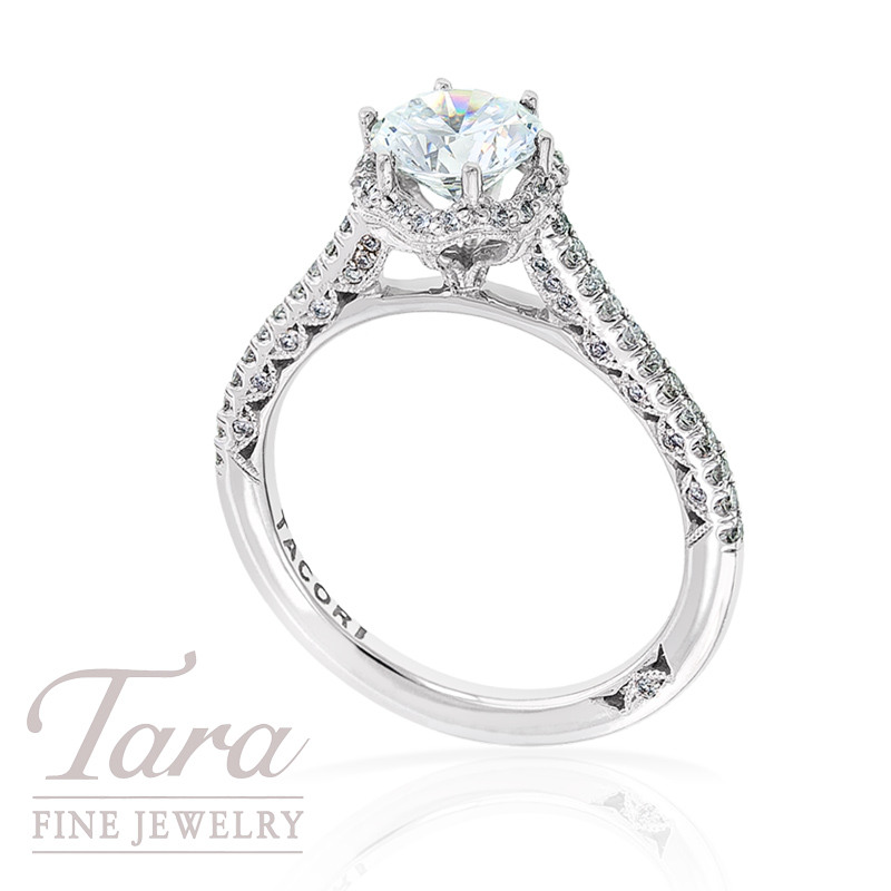 Tacori Diamond Wedding Ring in 18k White Gold, .33tdw (Center Diamond Sold Separately)