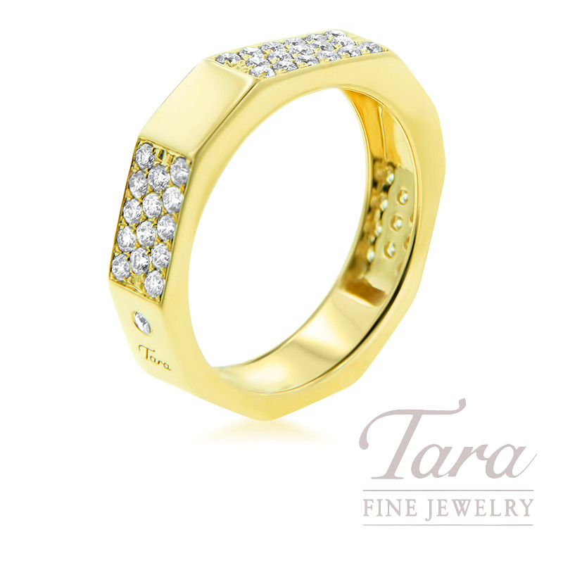 18k Yellow Gold Diamond Band, 5.78G, .54TDW