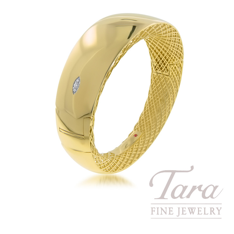 Roberto Coin 18K Yellow Gold Golden Gate Bangle .04TDW
