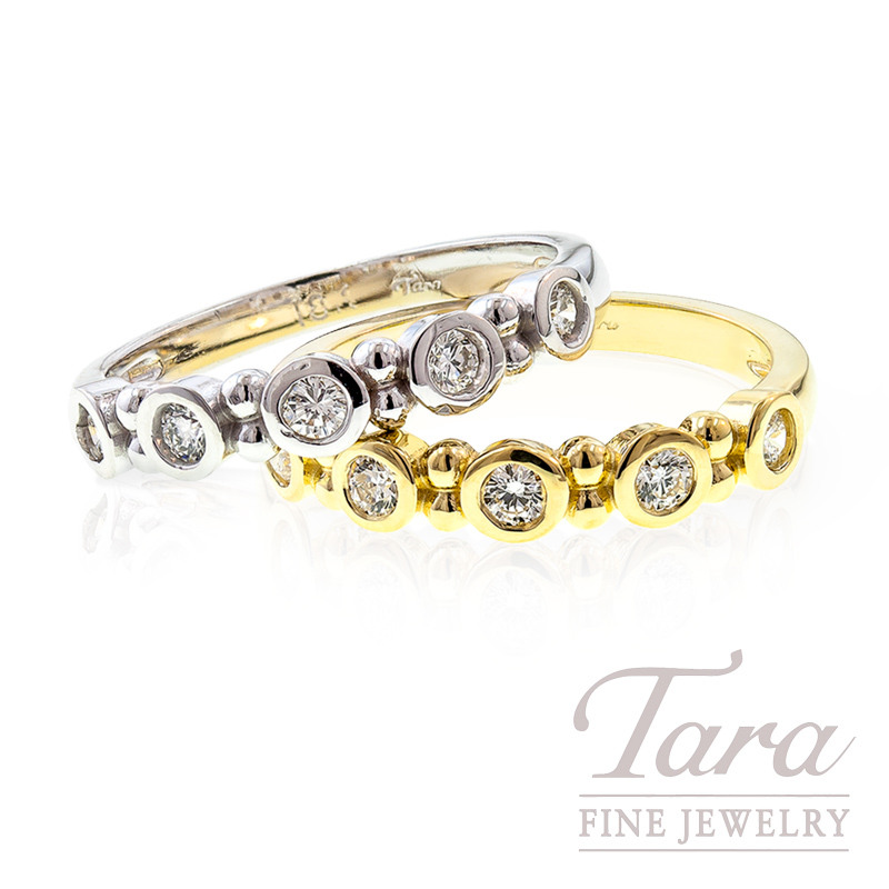 Diamond Ring in 18k White or Yellow Gold, .25tdw