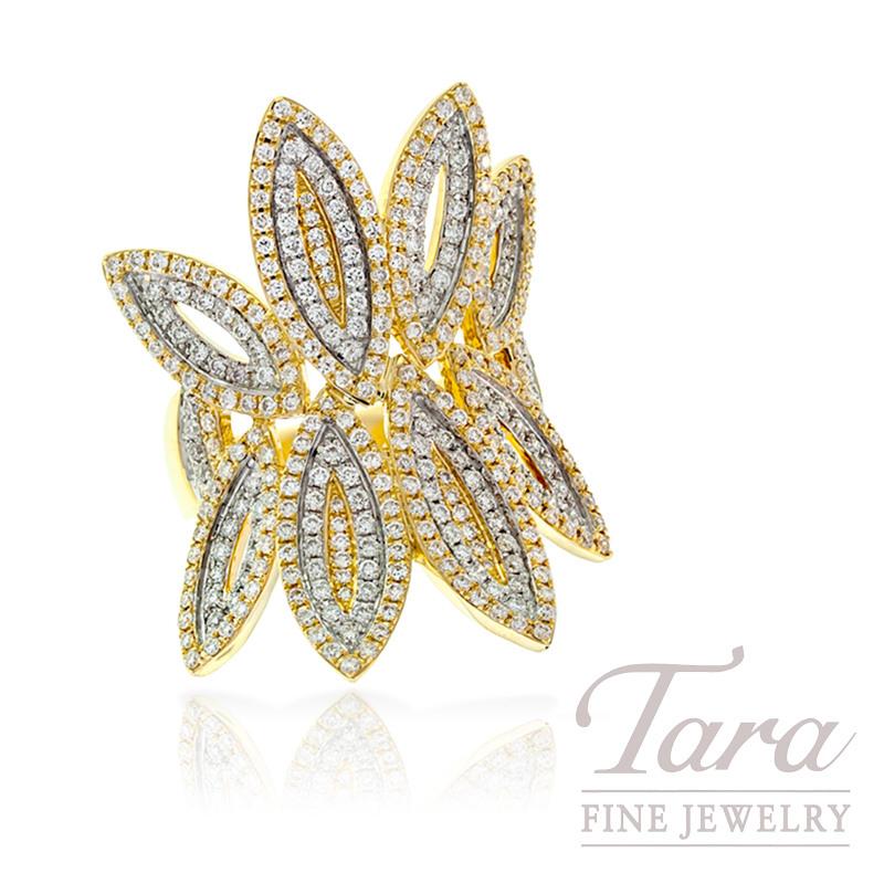 Diamond Ring in 18k Yellow Gold, 1.86tdw