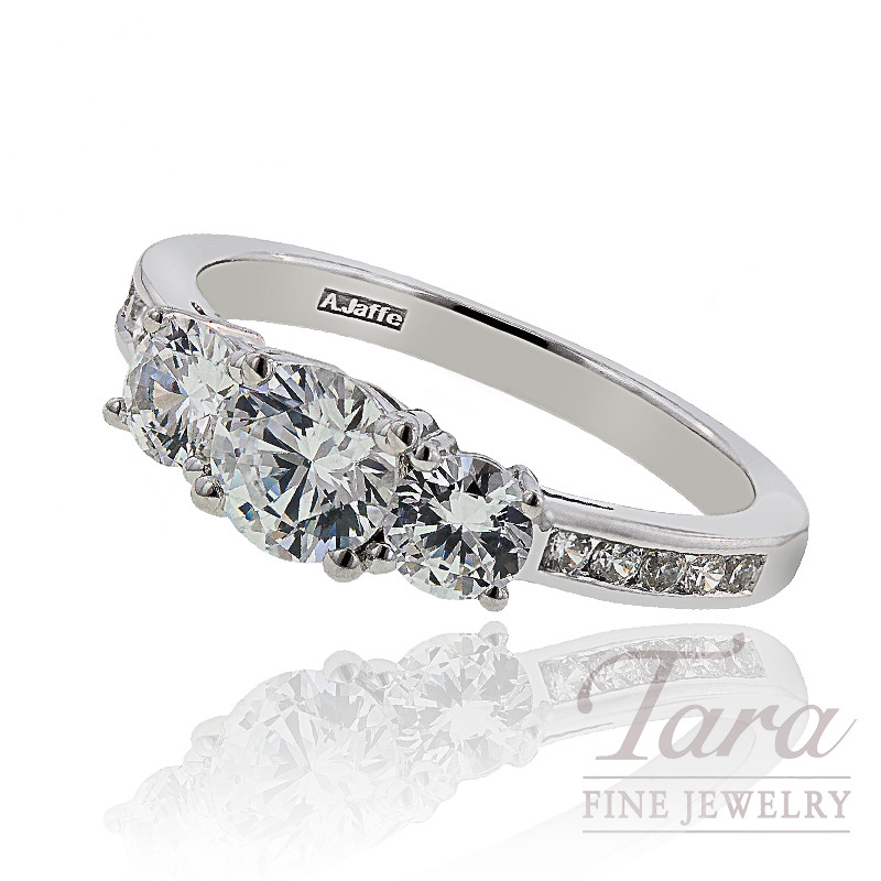 A. Jaffe Diamond Wedding Ring, 1.05 CT TW.