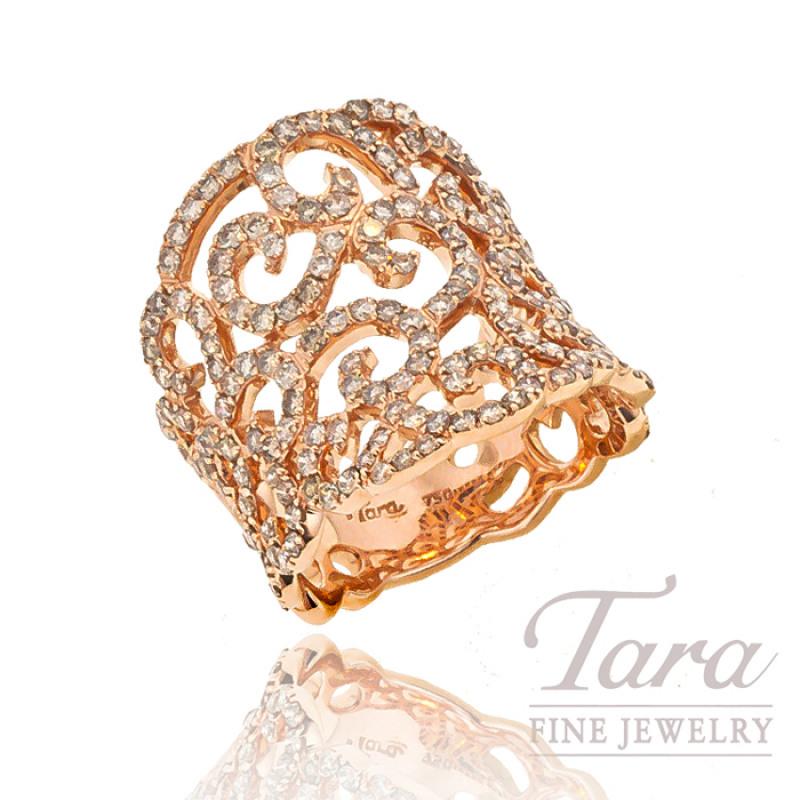 Diamond Ring in 18K Rose Gold, 1.84 CT TW.