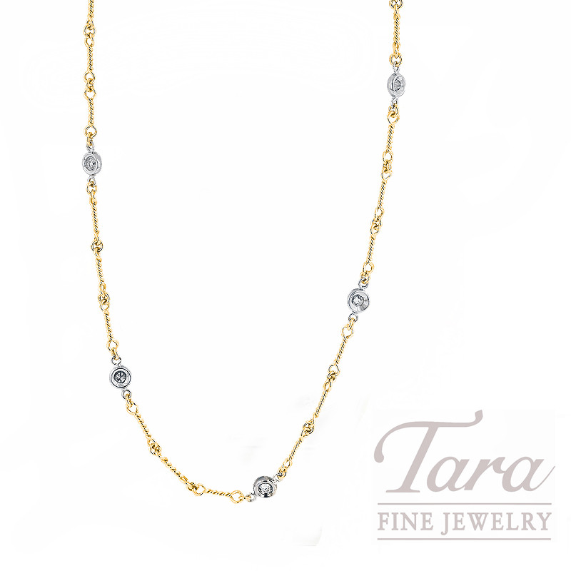 Roberto Coin Diamond Necklace, .28tdw in 18K Yellow Gold