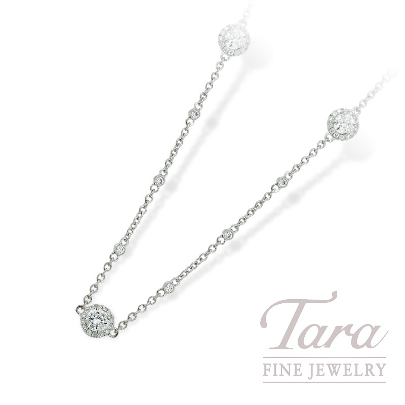 """Diamond Accented Chain in 18K White Gold, 6.45TDW,  38"""""""