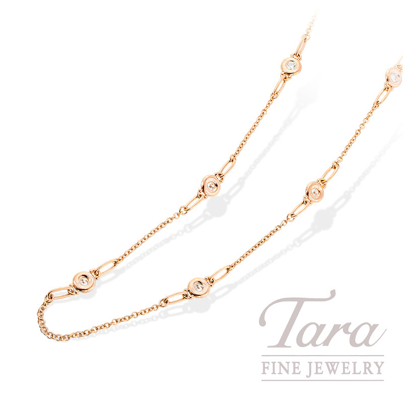 Norman Covan Diamond Chain in 18K Rose Gold, .36 TDW