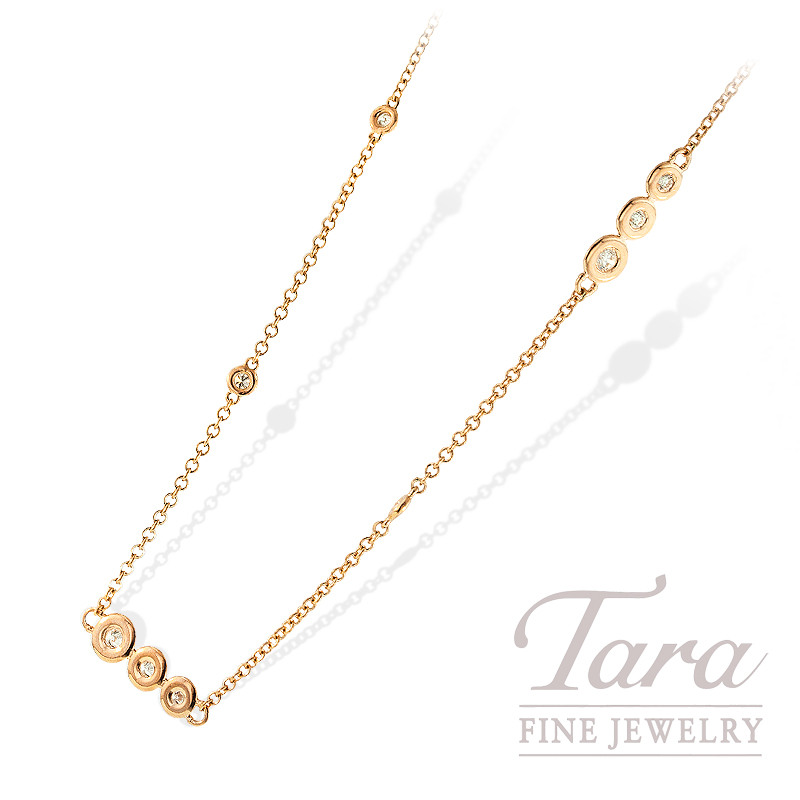 Norman Covan Diamond Chain in 18K Rose Gold, .64 TDW